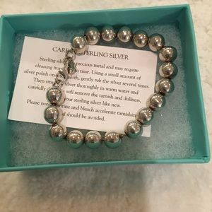 Tiffany Authentic Sterling Ball Bracelet